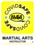 COVID Safe Martial Arts Instructors